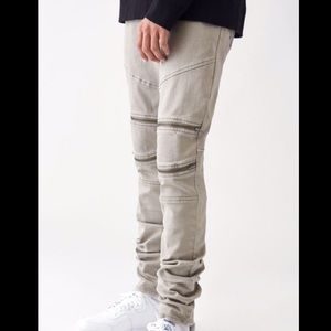 PacSun Stacked Skinny Knee Zipper Jeans